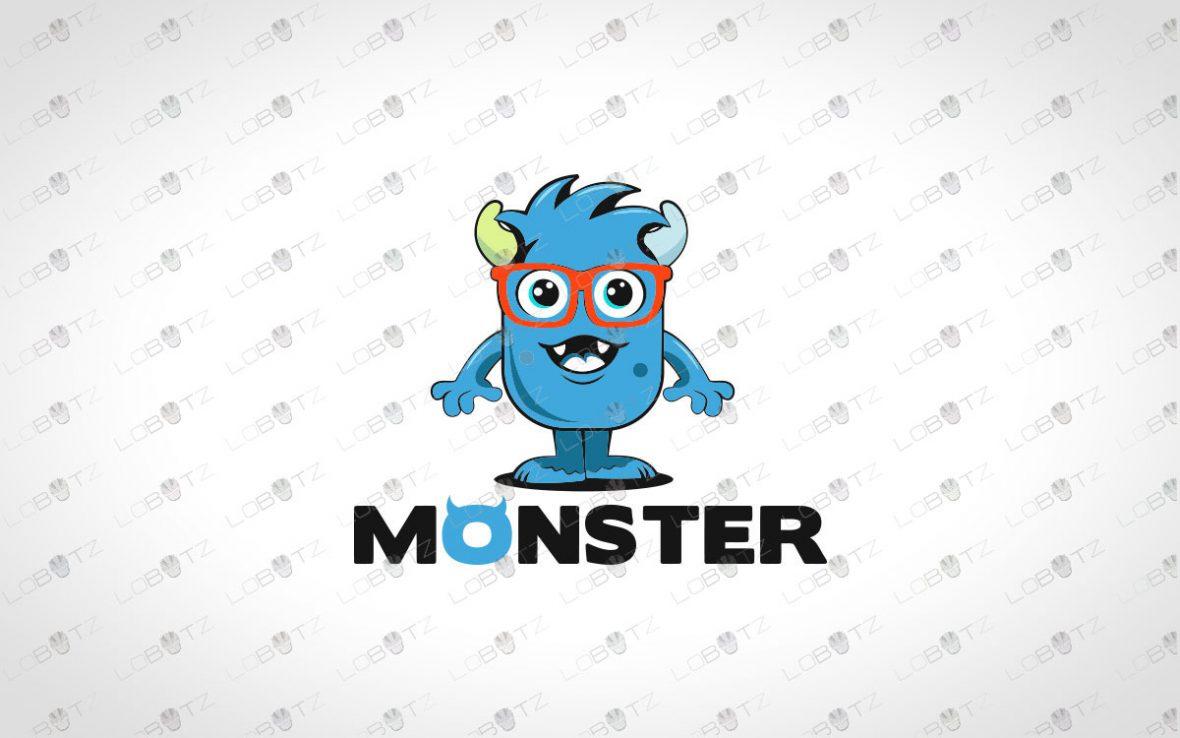 Cute Monster Logo For Sale | Premade Monster Logo