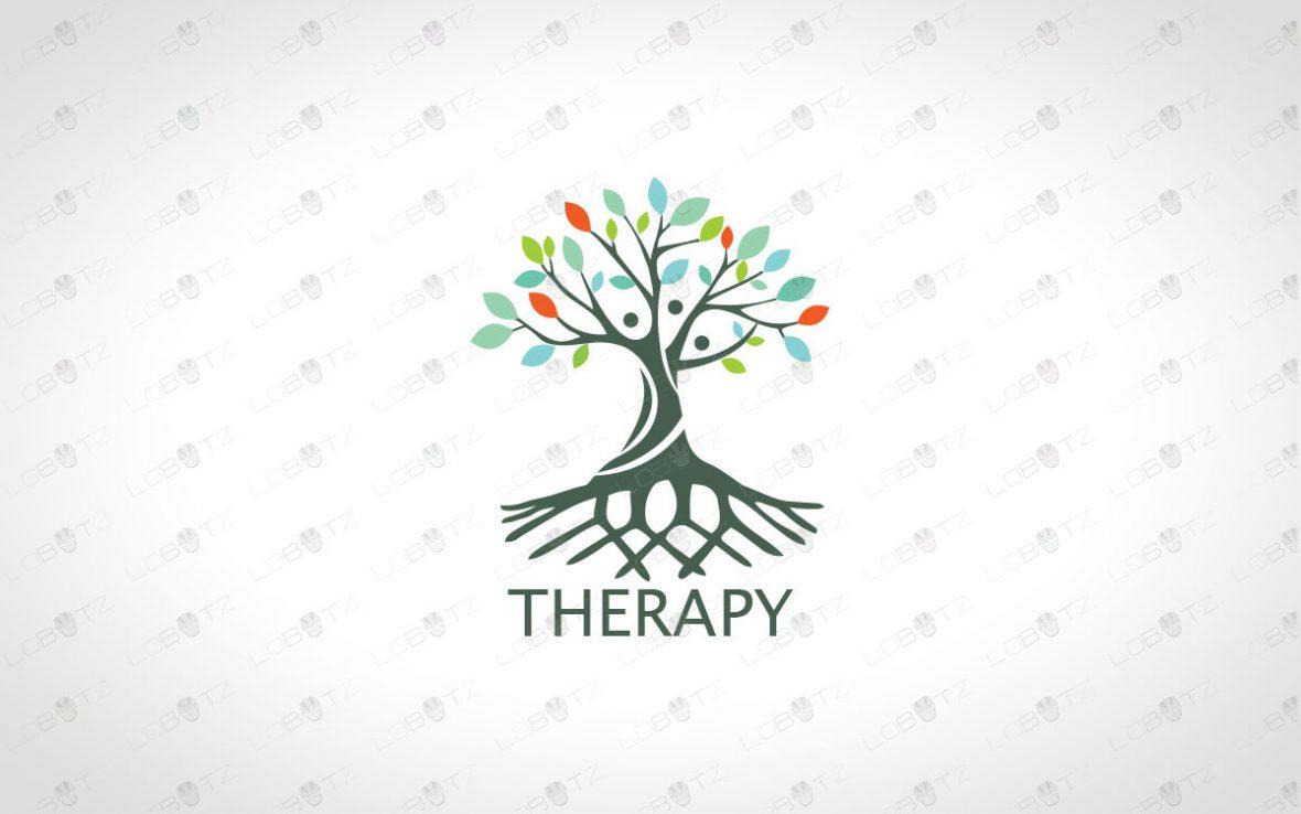 Premade Human Tree Logo For Sale