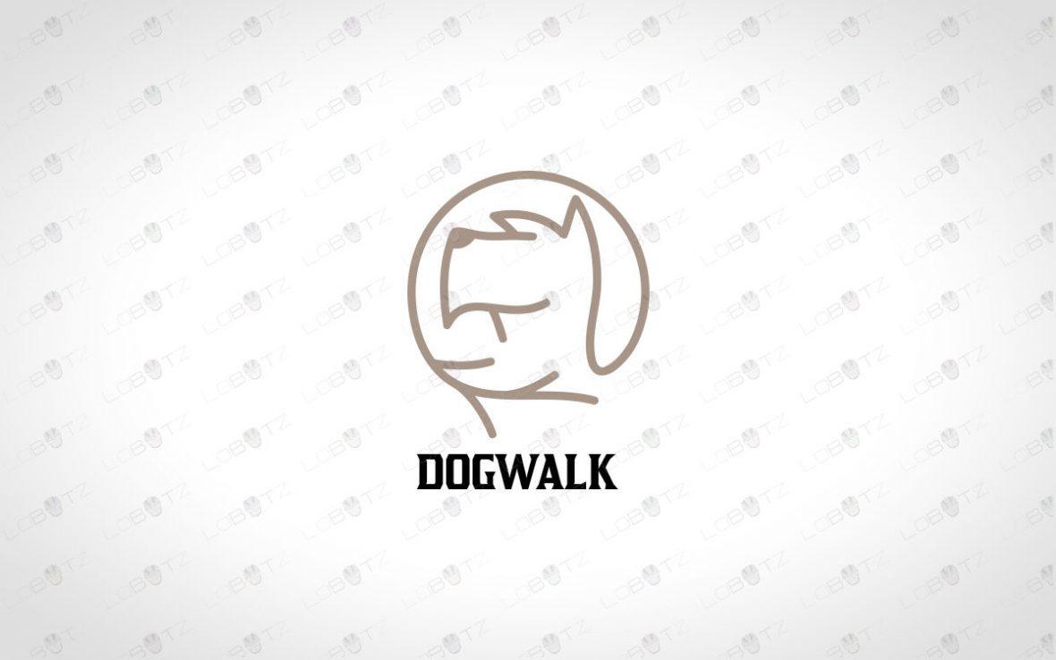 Premade Dog Head Logo For Sale   Dog Logo