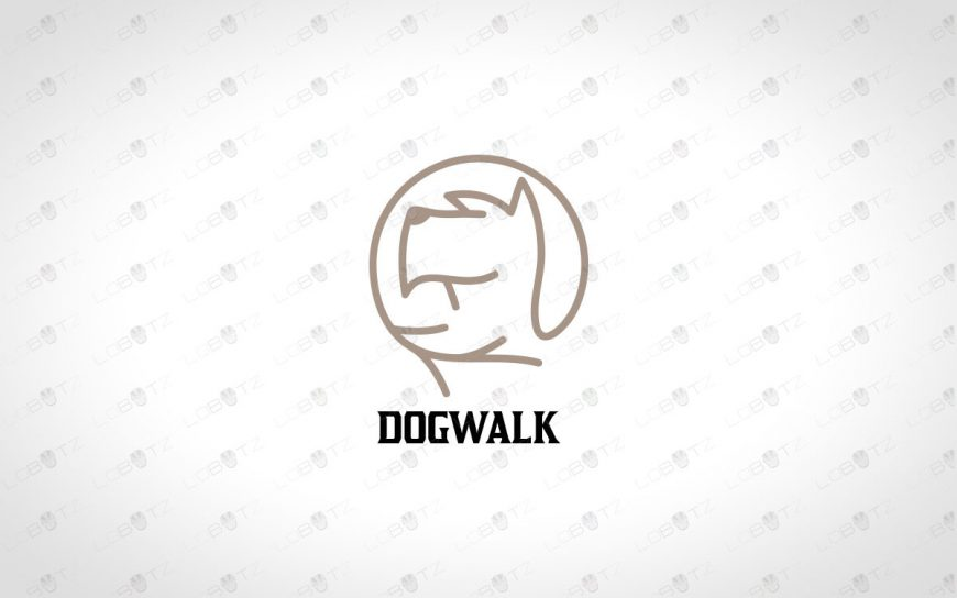 Premade Dog Head Logo For Sale | Dog Logo