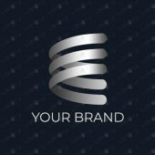 E Spring Ribbon Logo For Sale | Premade Brand Logo