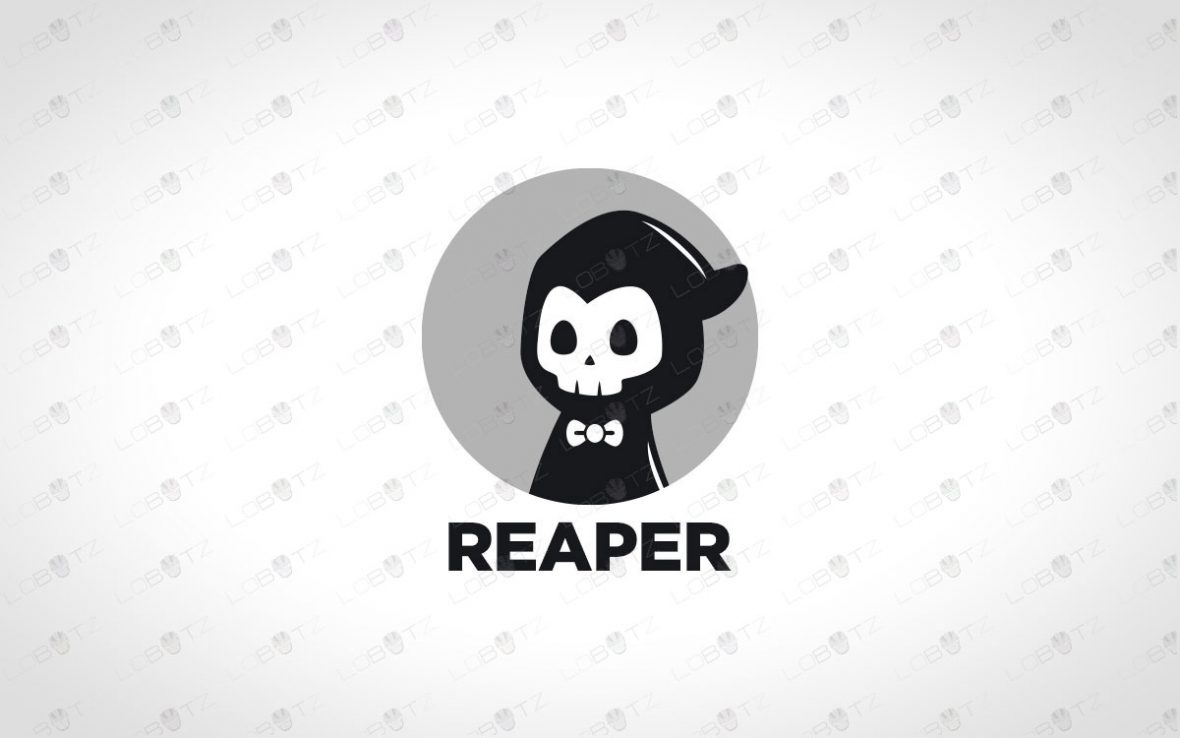 Cute Reaper Logo For Sale   Premade Modern Reaper Logo