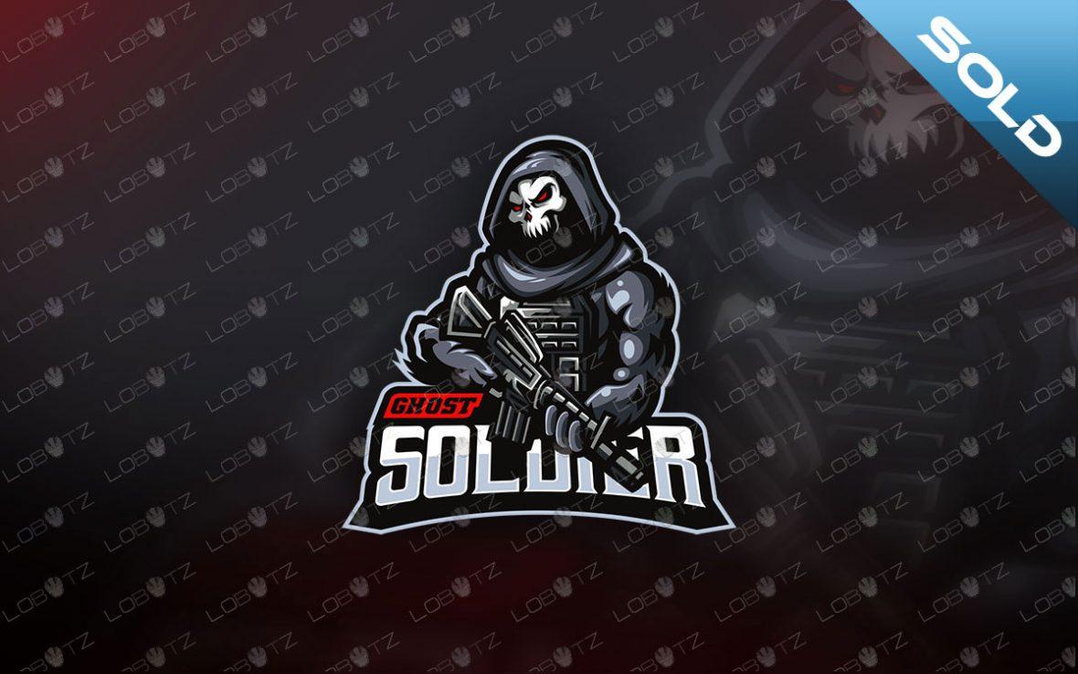 Skull Soldier Mascot Logo For Sale   Skull Soldier Mascot Logo reaper mascot logo