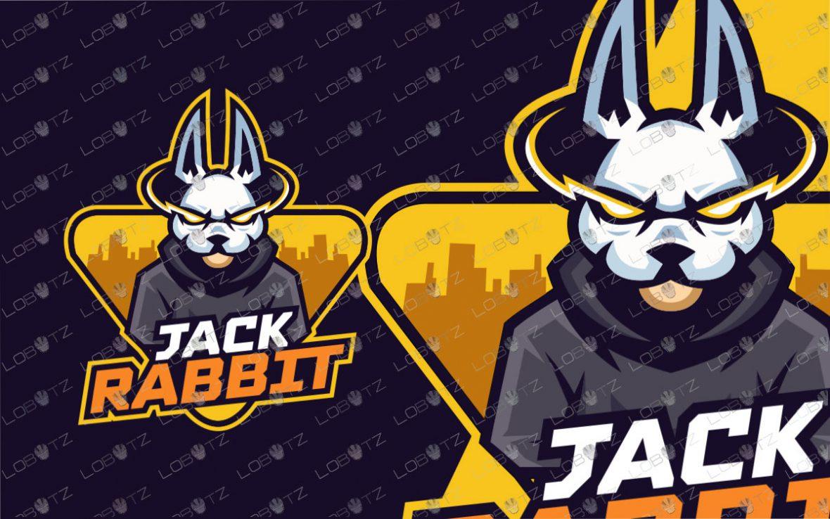 Rabbit Mascot Logo | Premade Rabbit Esports Logo For Sale