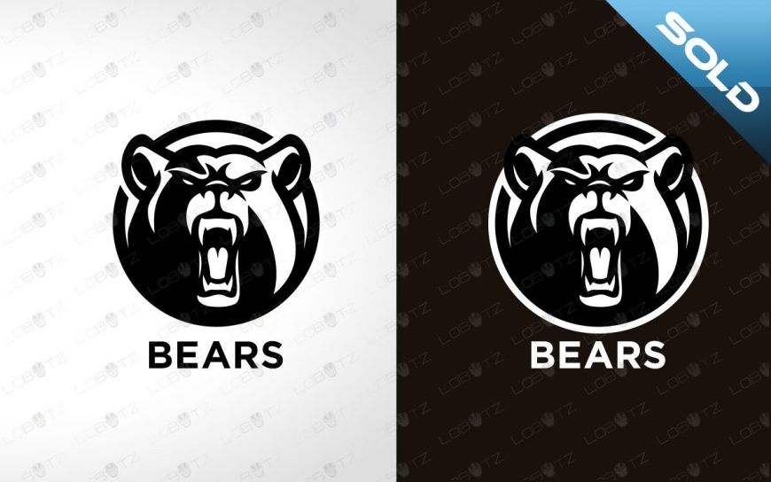 Strong Bear Logo Magnificent Grizzly Bear Logo For Sale