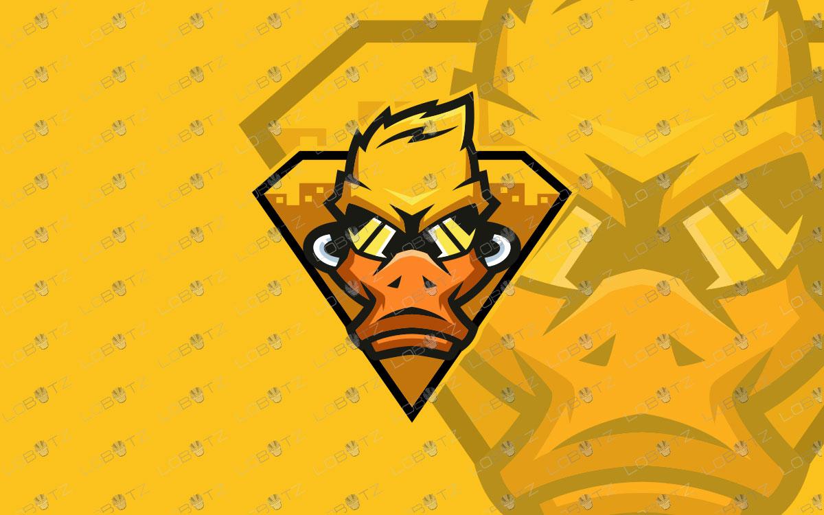 Premade Duck Mascot Logo | The Ducks ESports Logo For Sale