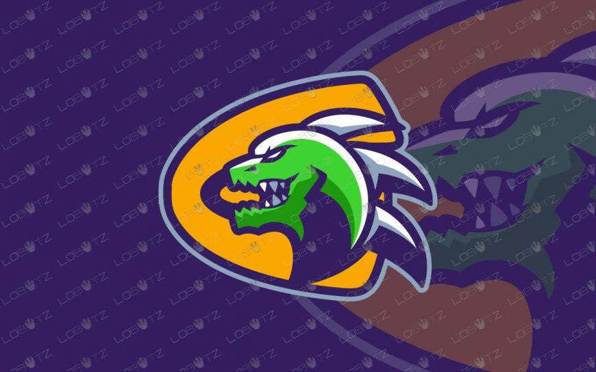 Premade Godzilla Mascot Logo | The Godzilla ESports Logo For Sale