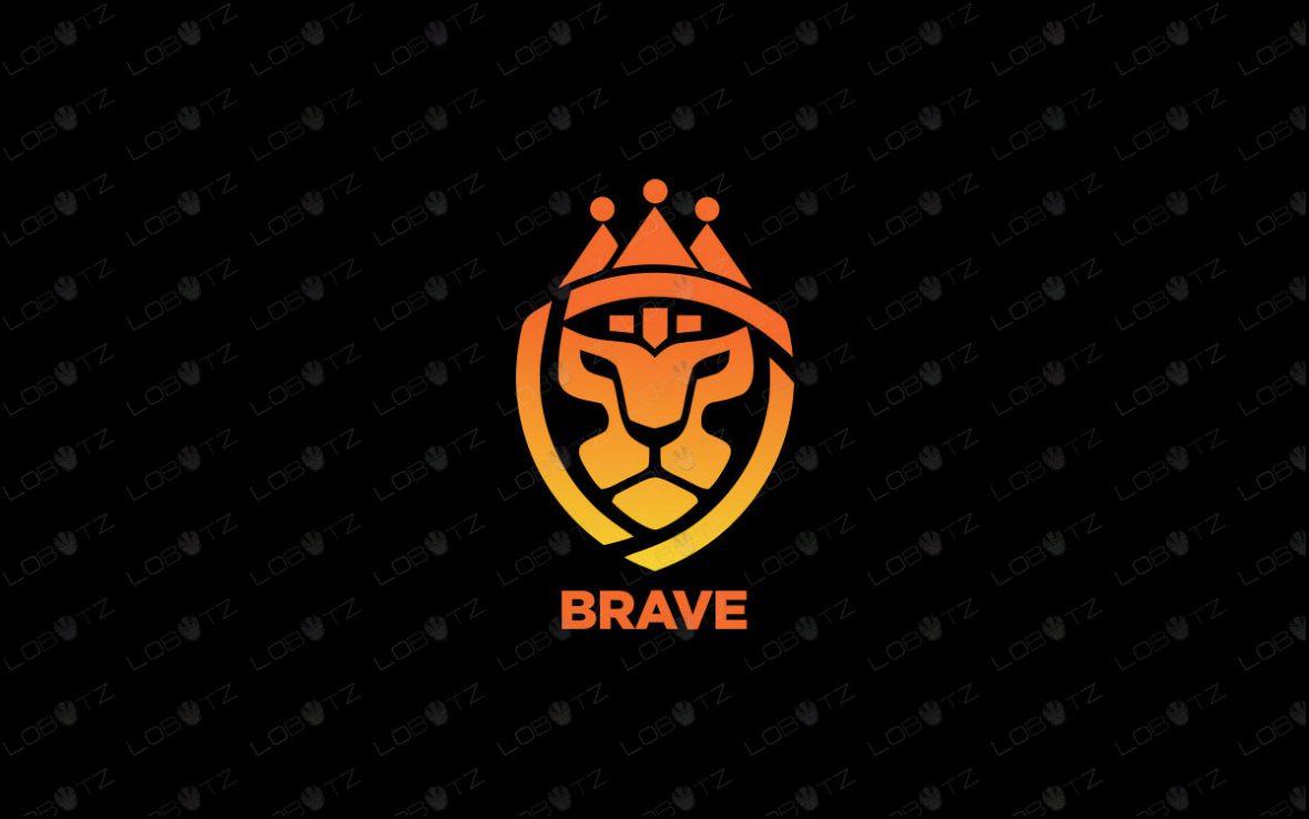 Majestic Lion Head Logo   Royal Lion Logo For Sale