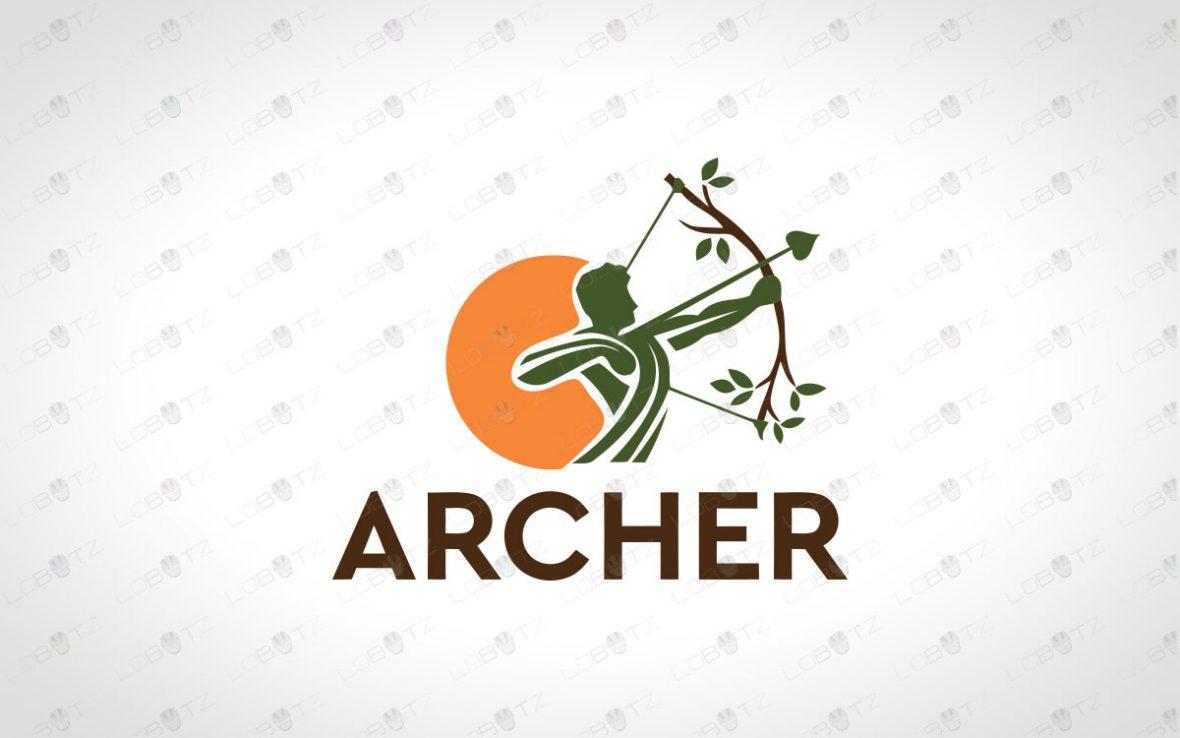 Premade Archer Logo   Garden Archer Logo Strong Bow Logo For Sale