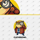 Premade Owl Logo   Majestic Owl Logo For Sale