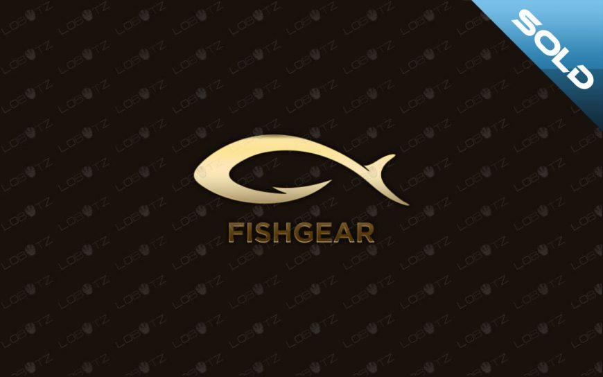 Modern & Creative Fish Gear Fishing Logo For Sale