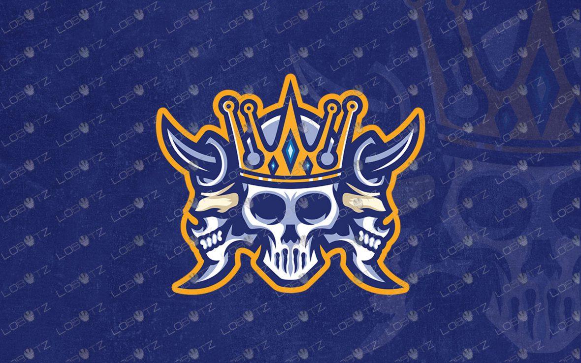 Skull King Mascot Logo For Sale   Skull Mascot Logo
