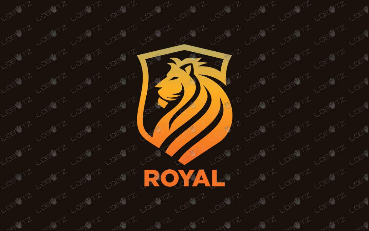 Premade Majestic Lion Head Logo   Royal Lion Logo For Sale