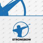 Premade Archer Logo   Brand Logo   Strong Bow Logo For Sale