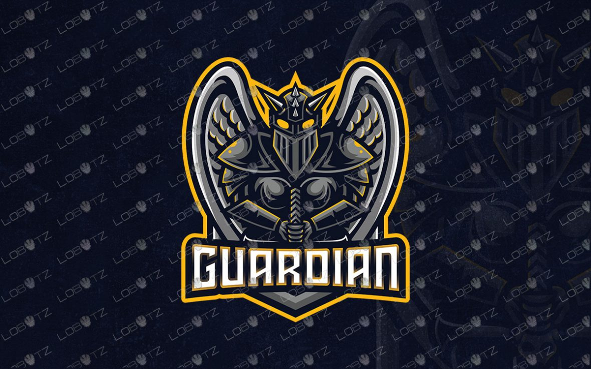 Premade Guardian Logo For Sale   Knight Mascot Logo