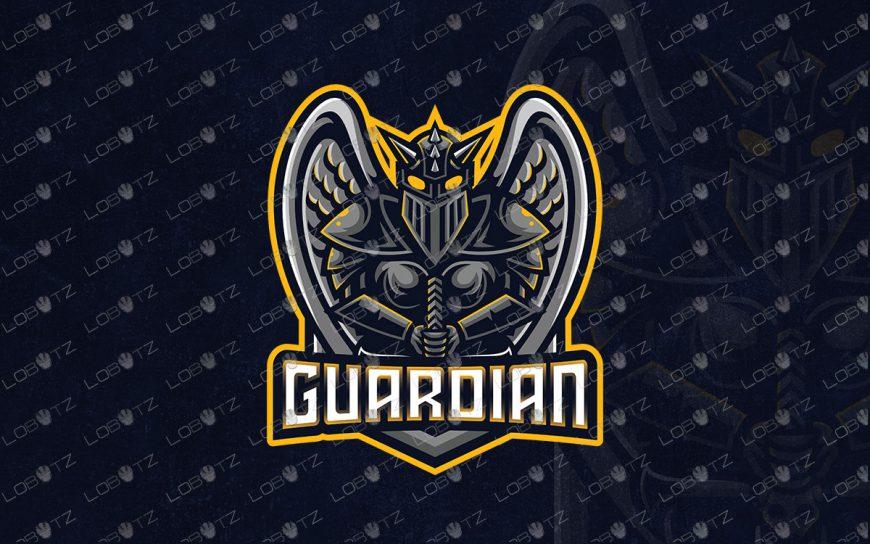 Premade Guardian Logo For Sale | Knight Mascot Logo