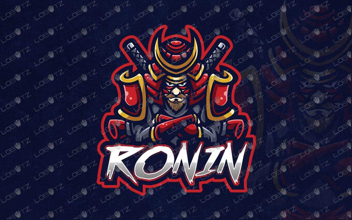 Premade Ronin Mascot Logo For Sale   Premade Ronin ESports Logo