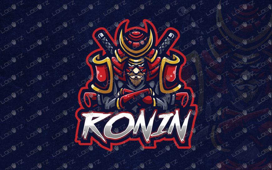 Premade Ronin Mascot Logo For Sale | Premade Ronin ESports Logo
