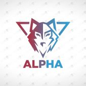 ReadyMade Wolf Logo For Sale   Wolf Crest Logo