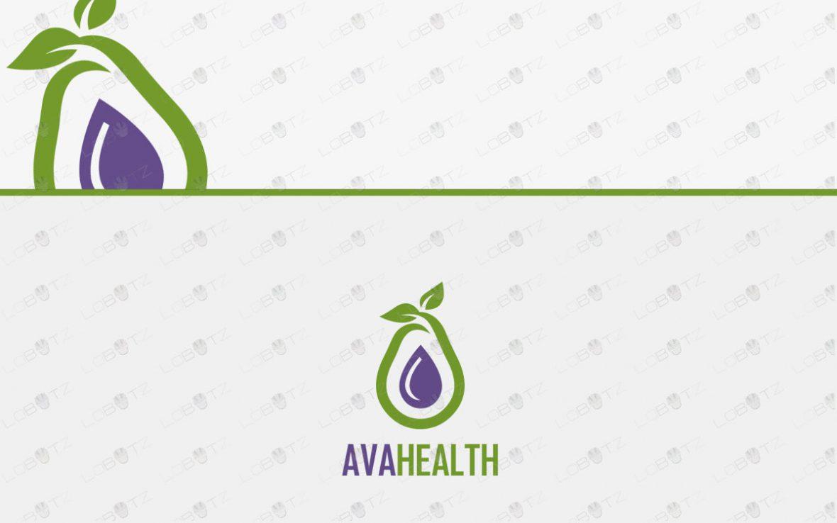 Premade Avocado Logo For Sale
