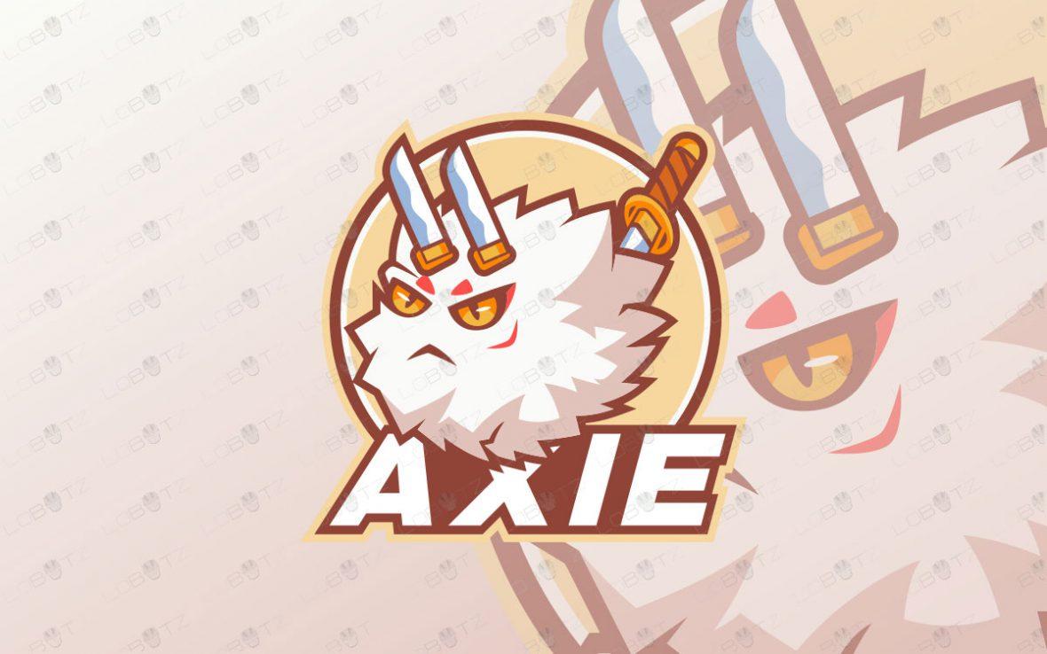 Axie Mascot Logo For Sale   Axie Infinity Mascot Logo