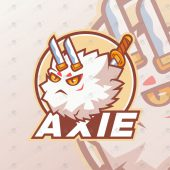 Axie Mascot Logo For Sale | Axie Infinity Mascot Logo
