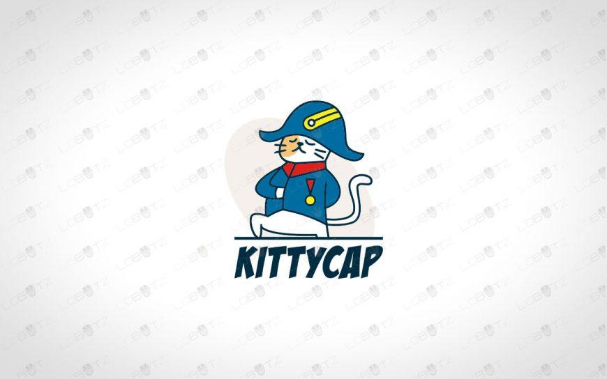 Premade Cat Captain Logo For Sale | Admiral Cat Logo