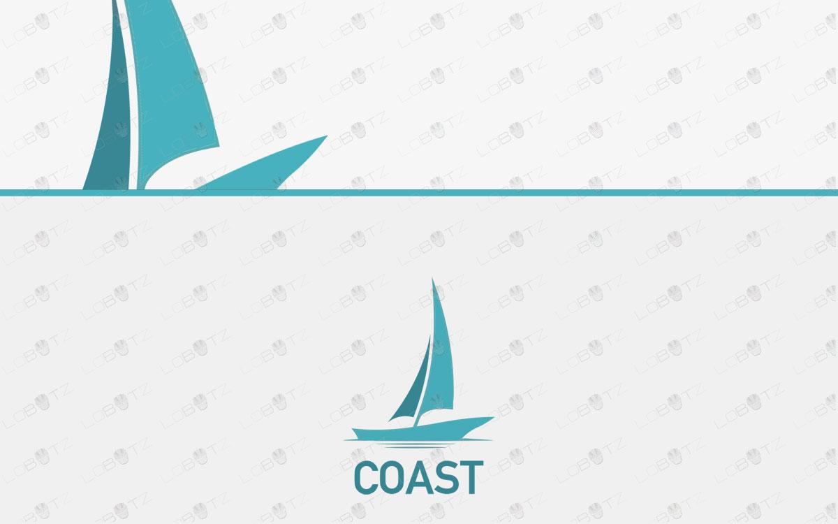 Premade Boat Logo | Spectacular Ship Logo For Sale