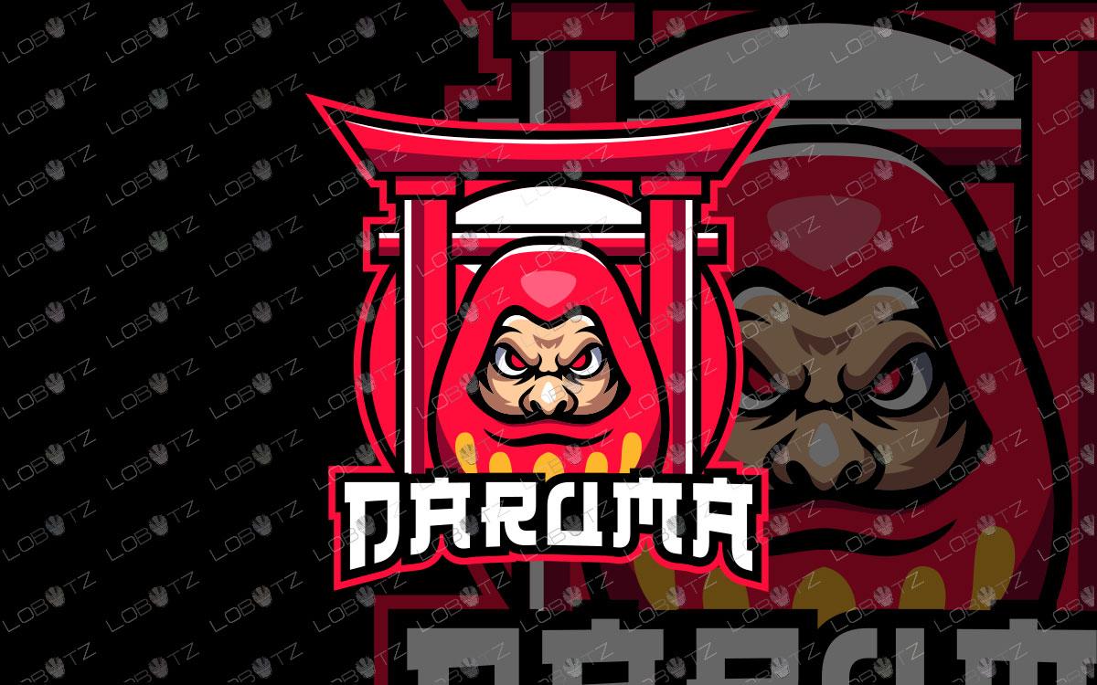 Daruma Mascot Logo For Sale | Premade Daruma eSports Logo