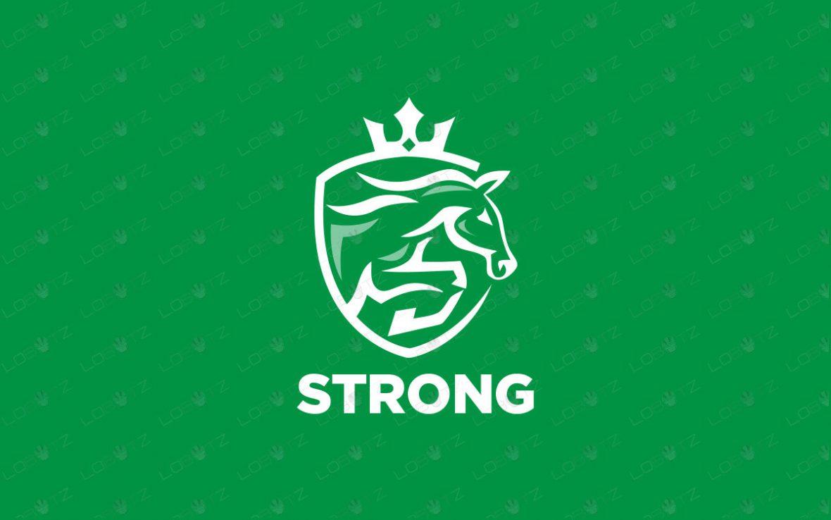 Premade Horse Logo   Horse Racing Logo For Sale