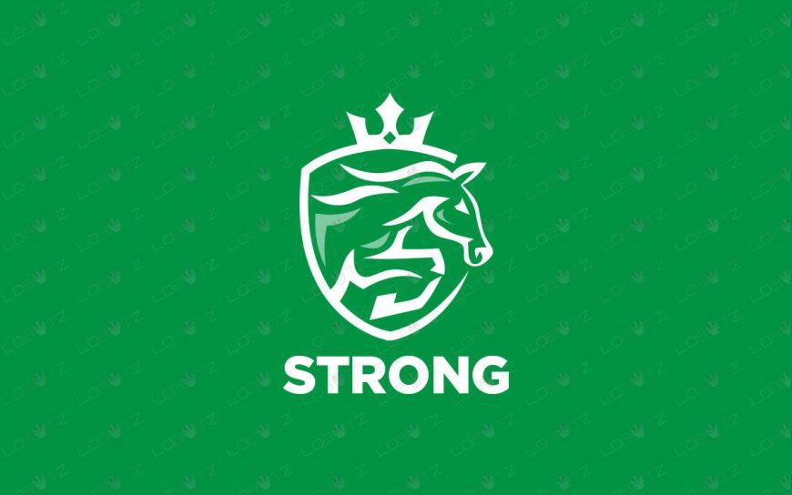 Premade Horse Logo | Horse Racing Logo For Sale