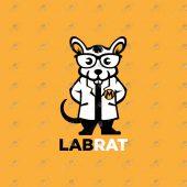 Premade Rat Logo | Lab Rat Logo For Sale