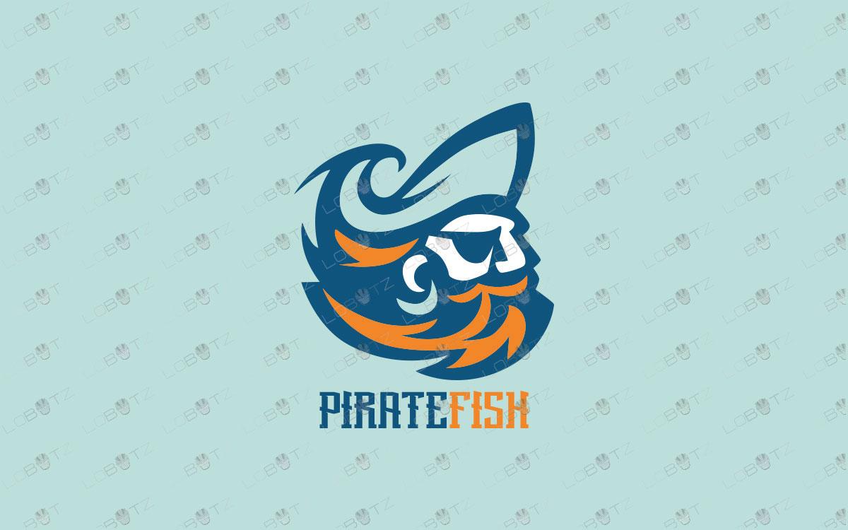 Premade Pirate Logo | Modern Pirate Logo For Sale