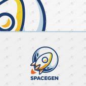 Premade Rocket Logo   Modern & Trendy Rocket Logo For Sale