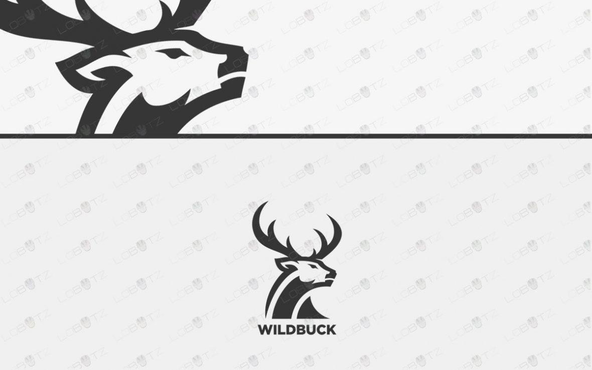 Premade Deer Logo For Sale | Premade Buck Animal Logo