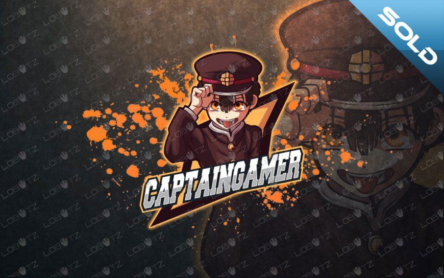 Captain Gamer Mascot Logo For Sale | Gamer eSports Logo premade logos
