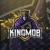 Premade King Gangster Reaper Mascot Logo For Sale