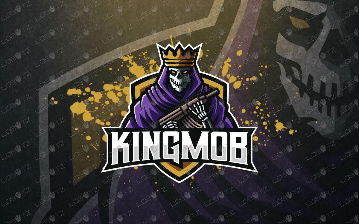 Premade King Gangster Reaper Mascot Logo For Sale Reaper esports logo