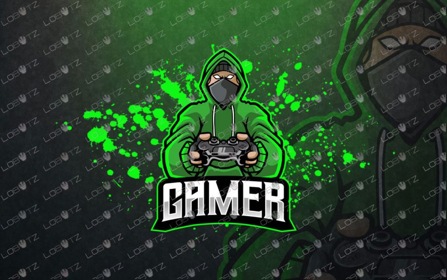 Gamer Ninja Mascot Logo Gamer Ninja ESports Logo Gaming Logo