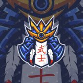 Premade Bushido Mascot Logo | Bushido eSports Logo For Sale