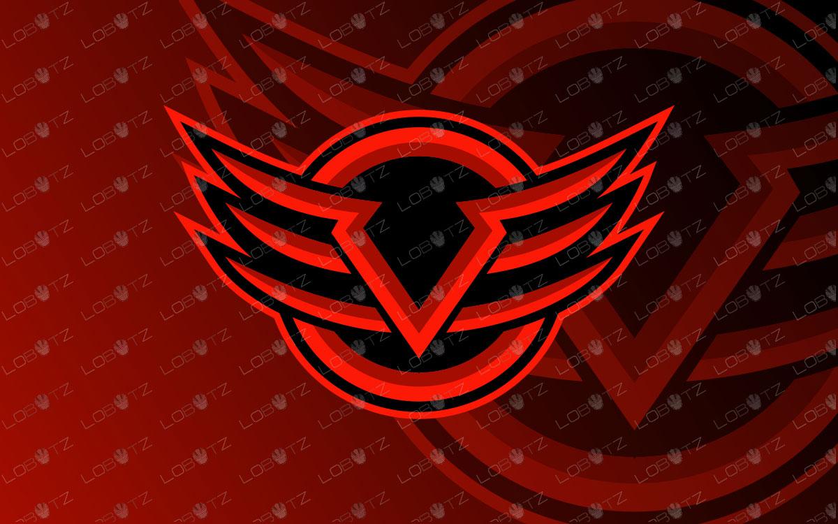 Letter V Mascot Logo | Premade Lettermark eSports Logo For Sale